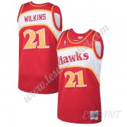 Maillot De Basket Enfant Atlanta Hawks 1986-87 Dominique Wilkins 21# Rouge Hardwood Classics Swingma..