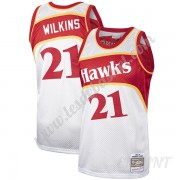 Maillot De Basket Enfant Atlanta Hawks Dominique Wilkins 21# Platinum Hardwood Classics Swingman..