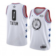 Maillot NBA Pas Cher Boston Celtics 2019 Jayson Tatum 0# Blanc All Star Game Finished Swingman..