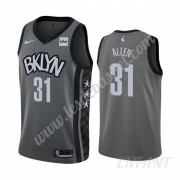 Maillot De Basket Enfant Brooklyn Nets 2019-20 Jarrett Allen 31# Gris Statement Edition Swingman..