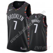 Maillot De Basket Enfant Brooklyn Nets 2019-20 Kevin Durant 7# Noir City Edition Swingman..