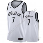 Maillot De Basket Enfant Brooklyn Nets 2019-20 Kevin Durant 7# Blanc Association Edition Swingman..