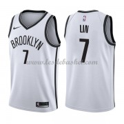 Maillot NBA Brooklyn Nets 2018 Jeremy Lin 7# Association Edition..