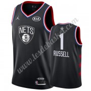 Maillot NBA Pas Cher Brooklyn Nets 2019 Dangelo Russell 1# Noir All Star Game Swingman..