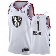 Maillot NBA Pas Cher Brooklyn Nets 2019 Dangelo Russell 1# Blanc All Star Game Swingman..