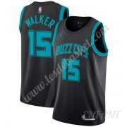 Maillot De Basket Enfant Charlotte Hornets 2019-20 Kemba Walker 15# Noir City Edition Swingman..