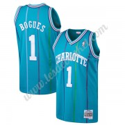 Maillot NBA Charlotte Hornets 1992-93 Muggsy Bogues 1# Sarcelle Hardwood Classics Swingman..