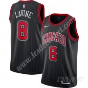Maillot De Basket Enfant Chicago Bulls 2019-20 Zach Lavine 8# Noir Finished Statement Edition Swingm..