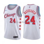 Maillot NBA Chicago Bulls 2018 Lauri Markkanen 24# City Edition..