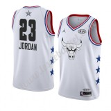 Maillot NBA Pas Cher Chicago Bulls 2019 Michael Jordan 23# Blanc All Star Game Swingman