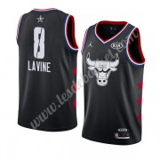 Maillot NBA Pas Cher Chicago Bulls 2019 Zach Lavine 8# Noir All Star Game Swingman..