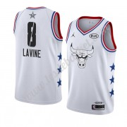 Maillot NBA Pas Cher Chicago Bulls 2019 Zach Lavine 8# Blanc All Star Game Swingman..