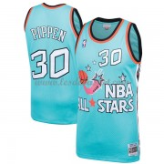 Maillot NBA Pas Cher Chicago Bulls Scottie Pippen 33# Teal 1996 All Star Hardwood Classics Swingman..