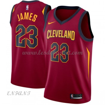 Maillot Basket Enfant Cleveland Cavaliers 2018 LeBron James 23# Icon Edition