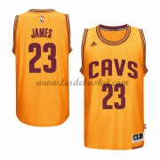 Maillot Basket NBA Cleveland Cavaliers 2015-16 LeBron James 23# Gold Alternate..