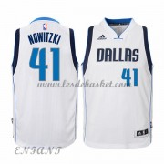 Maillot Basket Enfant Dallas Mavericks 2015-16 Dirk Nowitzki 41# Home..