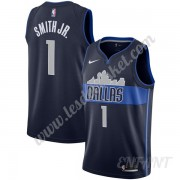 Maillot De Basket Enfant Dallas Mavericks 2019-20 Dennis Smith Jr 1# Bleu Marine Statement Edition S..