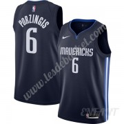 Maillot De Basket Enfant Dallas Mavericks 2019-20 Kristaps Porzingis 6# Bleu Marine Finished Stateme..