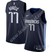 Maillot De Basket Enfant Dallas Mavericks 2019-20 Luka Doncic 77# Bleu Marine Finished Statement Edi..