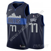 Maillot De Basket Enfant Dallas Mavericks 2019-20 Luka Doncic 77# Bleu Marine Statement Edition Swin..