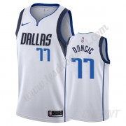Maillot De Basket Enfant Dallas Mavericks 2019-20 Luka Doncic 77# Blanc Association Edition Swingman..