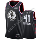 Maillot NBA Pas Cher Dallas Mavericks 2019 Dirk Nowitzki 41# Noir All Star Game Swingman