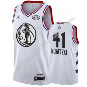 Maillot NBA Pas Cher Dallas Mavericks 2019 Dirk Nowitzki 41# Blanc All Star Game Swingman..