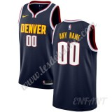Maillot De Basket Enfant Denver Nuggets 2019-20 Bleu Marine Icon Edition Swingman