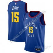 Maillot De Basket Enfant Denver Nuggets 2019-20 Nikola Jokic 15# Bleu Statement Edition Swingman..