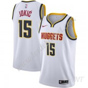 Maillot De Basket Enfant Denver Nuggets 2019-20 Nikola Jokic 15# Blanc Association Edition Swingman..