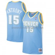 Maillot NBA Denver Nuggets 2003-04 Carmelo Anthony 15# Light Blue Hardwood Classics..