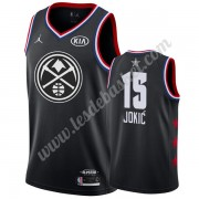 Maillot NBA Pas Cher Denver Nuggets 2019 Nikola Jokic 15# Noir All Star Game Swingman..