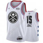 Maillot NBA Pas Cher Denver Nuggets 2019 Nikola Jokic 15# Blanc All Star Game Swingman..