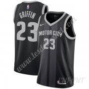 Maillot De Basket Enfant Detroit Pistons 2019-20 Blake Griffin 23# Noir City Edition Swingman..