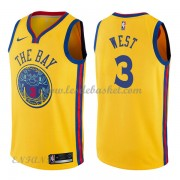 Maillot Basket Enfant Golden State Warriors 2018 David West 3# City Edition..