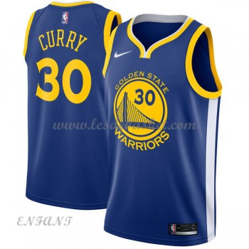 Maillot Basket Enfant Golden State Warriors 2018 Stephen Curry 30# Icon Edition