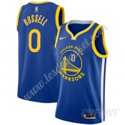 Maillot De Basket Enfant Golden State Warriors 2019-20 D'Angelo Russell 0# Bleu Icon Edition Swingma..