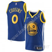 Maillot De Basket Enfant Golden State Warriors 2019-20 DeMarcus Cousins 15# Bleu Icon Edition Swingm..