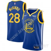 Maillot De Basket Enfant Golden State Warriors 2019-20 Alfonzo McKinnie 28# Bleu Icon Edition Swingm..