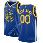 Maillot De Basket Enfant Golden State Warriors 2019-20 Bleu Icon Edition Swingman..