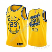 Maillot De Basket Enfant Golden State Warriors 2019-20 Draymond Green 23# Jaune Classics Edition Swi..