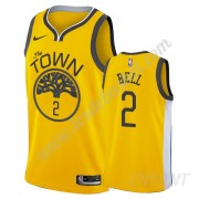 Maillot De Basket Enfant Golden State Warriors 2019-20 Jordan Bell 2# Or Earned Edition Swingman..