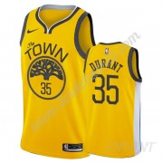 Maillot De Basket Enfant Golden State Warriors 2019-20 Kevin Durant 35# Or Earned Edition Swingman..