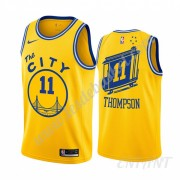 Maillot De Basket Enfant Golden State Warriors 2019-20 Klay Thompson 11# Jaune Classics Edition Swin..