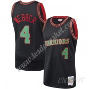 Maillot De Basket Enfant Golden State Warriors 1993-94 Chris Webber 4# Noir Hardwood Classics Swingm..