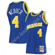 Maillot De Basket Enfant Golden State Warriors 1993-94 Chris Webber 4# Bleu Hardwood Classics Swingm..