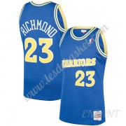 Maillot De Basket Enfant Golden State Warriors 1990-91 Mitch Richmond 23# Bleu Hardwood Classics Swi..