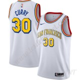 Maillot De Basket Enfant Golden State Warriors Stephen Curry 30# Blanc Finished Hardwood Classics Swingman