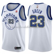 Maillot NBA Golden State Warriors 2018 Draymond Green 23# White Hardwood Classics..