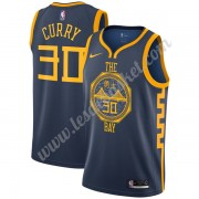 Maillot NBA Golden State Warriors 2019-20 Stephen Curry 30# Bleu Marine City Edition Swingman..